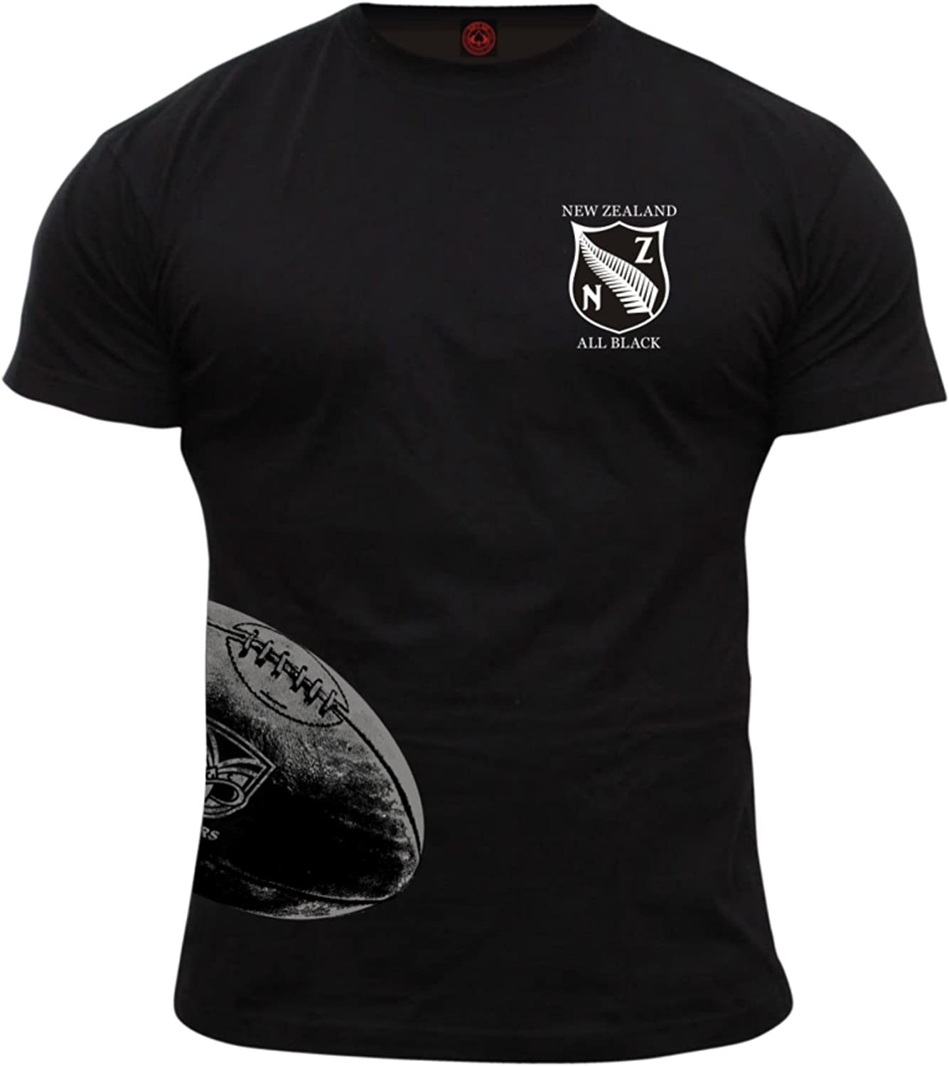 Dirty Ray Rugby New Zealand All Black Camiseta Hombre KRB3