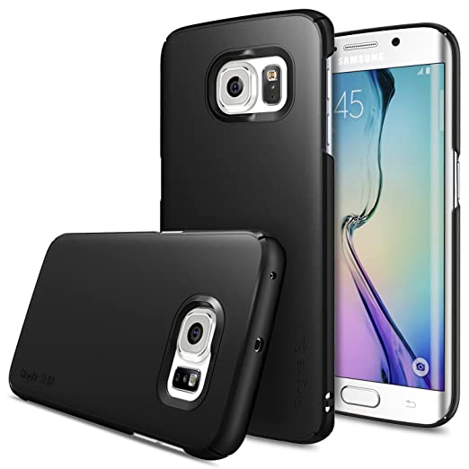 187 opinioni per Galaxy S6 Edge Custodia- Ringke SLIM ***Top and Bottom copertura*** [BLACK]