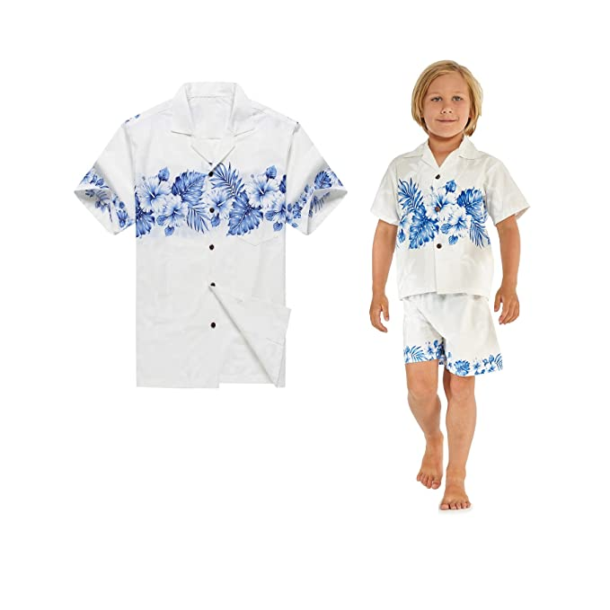 6462ee00 Made in Hawaii Matching Father Son Shirts Cabana Set in Golden Hibiscus  Cross in at Amazon Men's Clothing store: