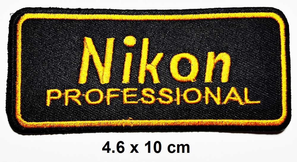 Nikon Coolpix DSLR Cámara Digital parche hierro en logotipo chaleco gorro de chaqueta sudadera con capucha mochila parche de hierro sobre/para coser en ...