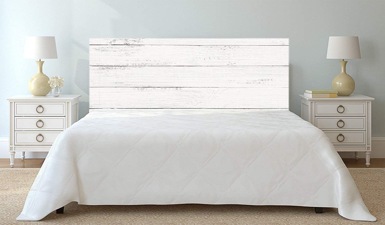 Cabecero Cama Cartón Ecológico Kraft Nido de Abeja Imitación Madera Blanca Impresión Digital 90x60 cm | Varias Medidas | Cabecero Ligero, Elegante, Resistente y Económico |