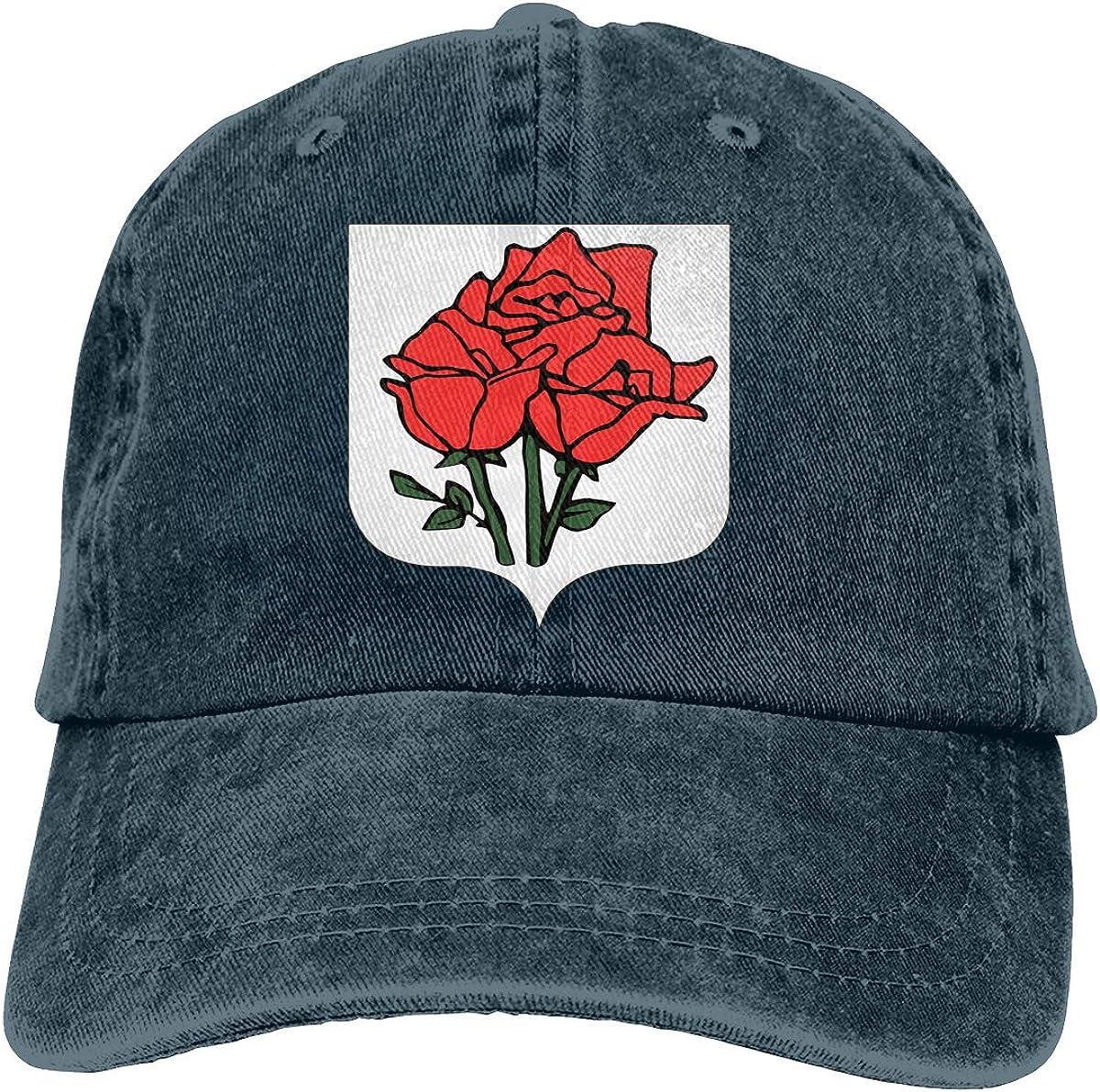 Rose Island Flag Unisex Custom Cowboy Hat Casquette Adjustable Baseball Cap