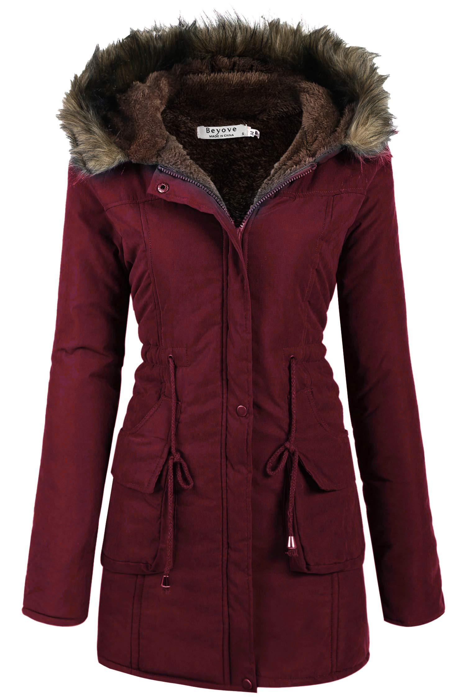 Beyove Women Thicken Warm Winter Coat Hood Parka Overcoat Long Jacket Outwear by Beyove