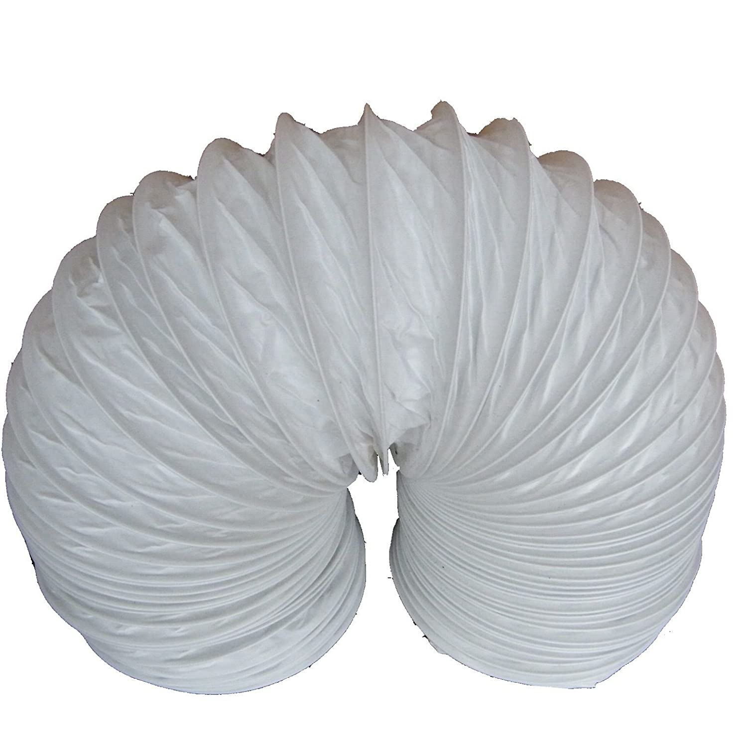 100mm x 45m metre 4' White PVC Round Flexible Ducting/Tumble dryer Hose/Flexi hose Verplas