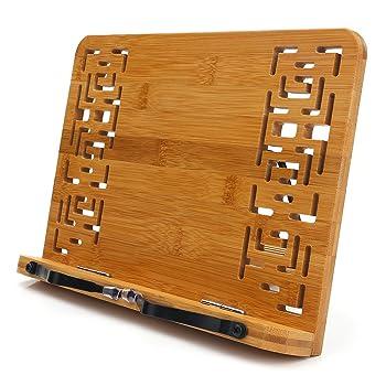wishacc Bamboo Cookbook Stand
