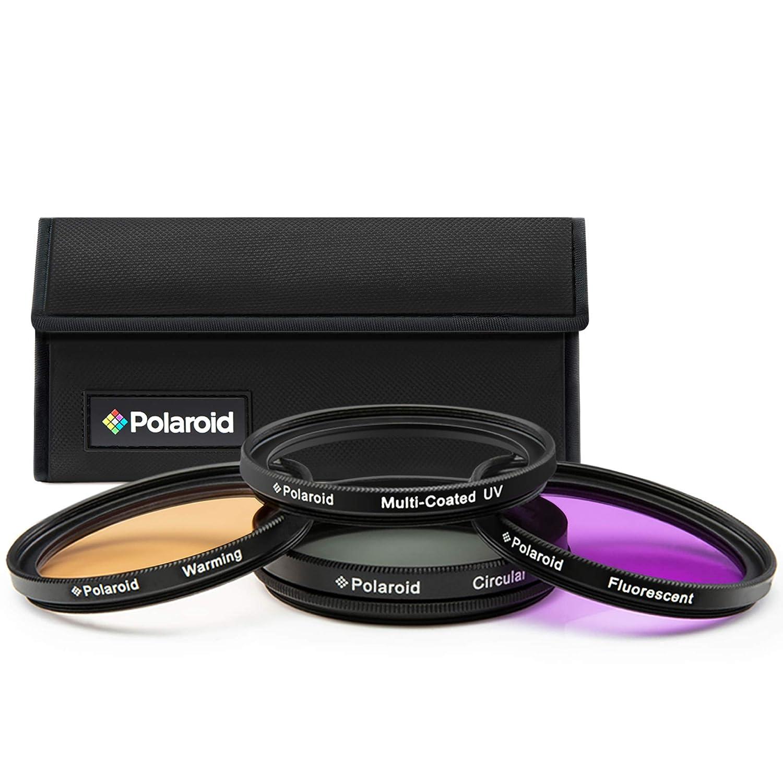 Polaroid PL4FIL55 - Juego de filtros de 55 mm, UV, CPL, FLD, WARMING (4 piezas)