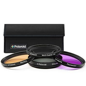 Polaroid PL4FIL55 - Juego de filtros de 55 mm, UV, CPL, FLD, WARMING (4 piezas): Amazon.es: Electrónica