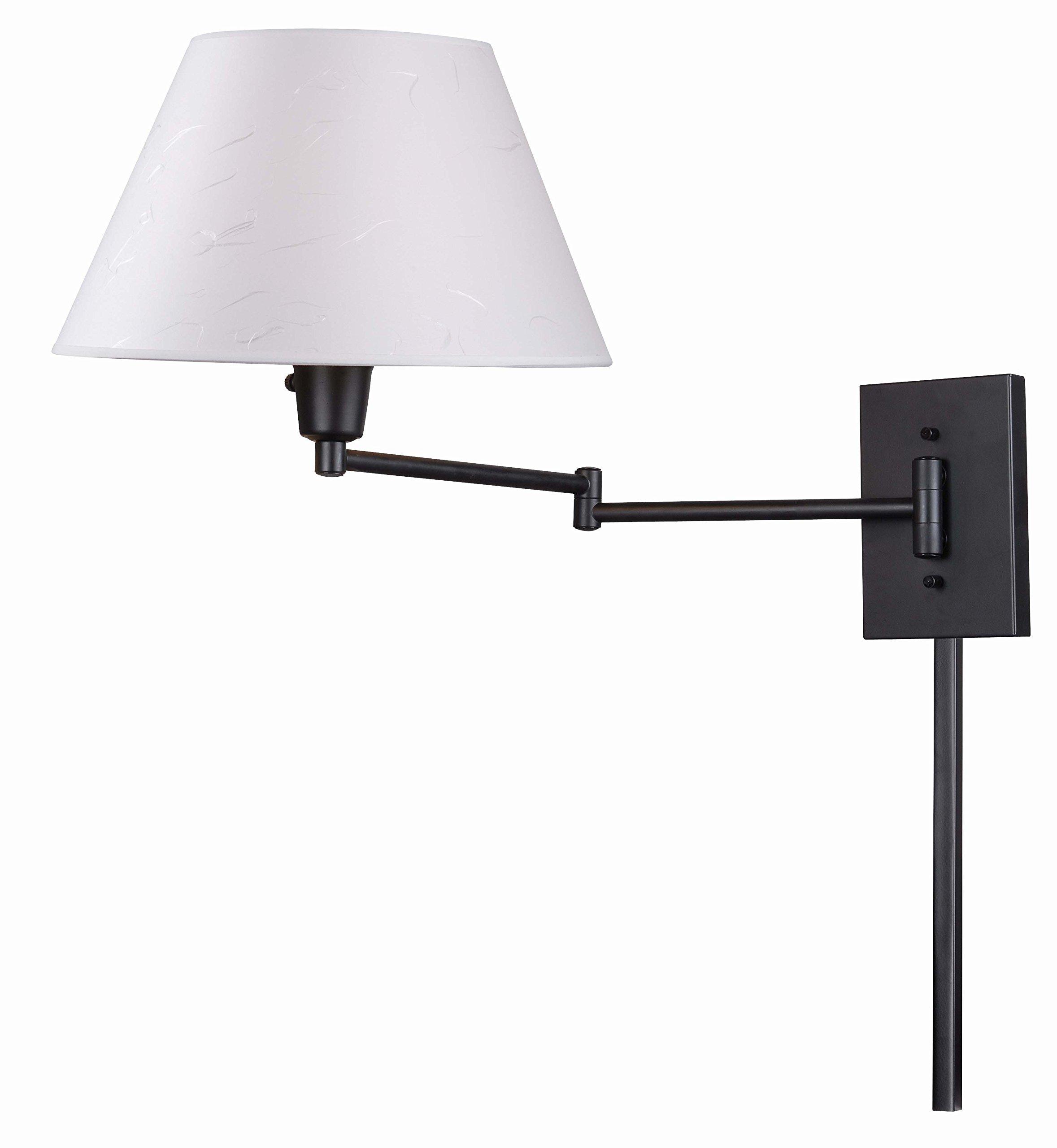 Kenroy Home 30110BRZ Simplicity Wall-Mounted 150-Watt Swing-Arm Lamp, Dark  Bronze by Kenroy Home