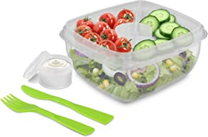 SALAD-GO- Kitchen food storage. Take your salad on the go!