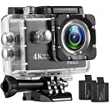 4K WiFi Action Camera Ultra HD 100Feet Waterproof Sports DV Camcorder 16MP 170 Degree Wide Angle with 28 Accessories Kits