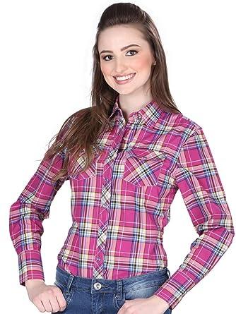 Camisa Vaquera Dama (Blusa) L/Sleeve (CLD) El General Purple ID