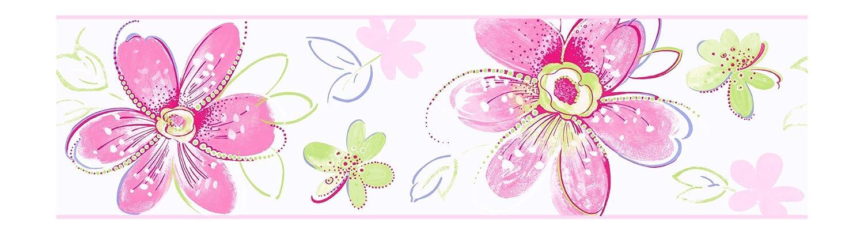 York Wallcoverings CK7703BSMP Candice Olson Kids Bohemian Floral Wallpaper Memo Sample 8-Inch x 10-Inch