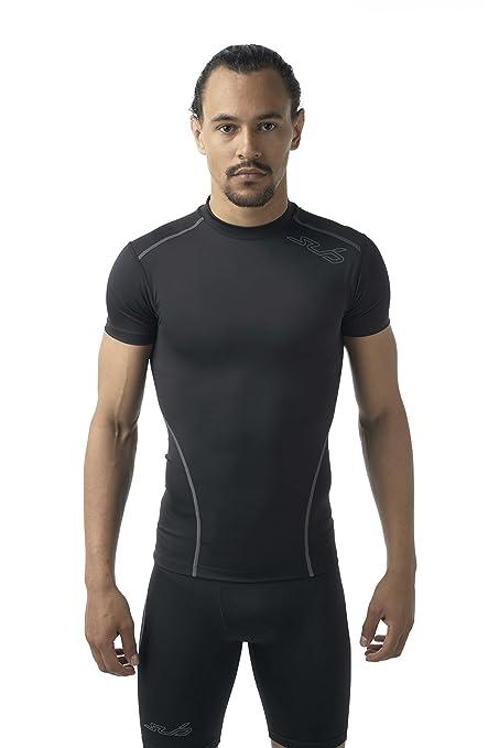 Sub Sports Mens Short Sleeve Compression T-Shirt Running Base Layer Vest -S 91dc39b7cd86
