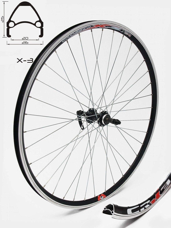 Bicicleta de cross X-3, con cierre centralizado, solo para frenos de disco, para todas las bicicletas de montaña y de montaña, radios plateados
