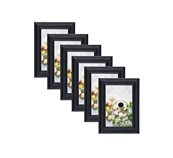 Amazoncom Unique Plated Beaded Border Black Picture Frames 6 Pc