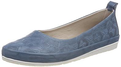 c20cd7f50851 Andrea Conti Damen 0025783 Geschlossene Ballerinas, Blau (Jeans), 36 EU