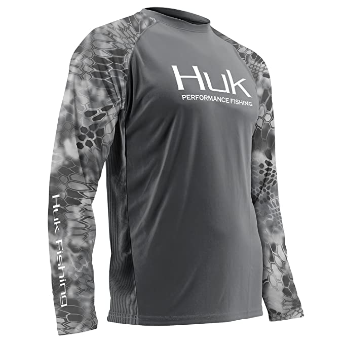01e6d5fc HUK H1200119-011-L Huk Performance Kryptek Vented Ls, Charcoal Gray, Large