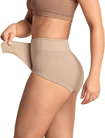 Leonisa Postpartum Underwear for Women - C-Section High Waist Girdle Panty with Adjustabe Belly Wrap at Amazon Women's Clothing store