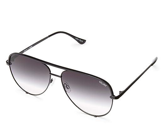 5282d0068b Amazon.com  Quay Australia HIGH KEY MINI Men s and Women s Sunglasses  Aviator Sunnies - Black Fade  Clothing