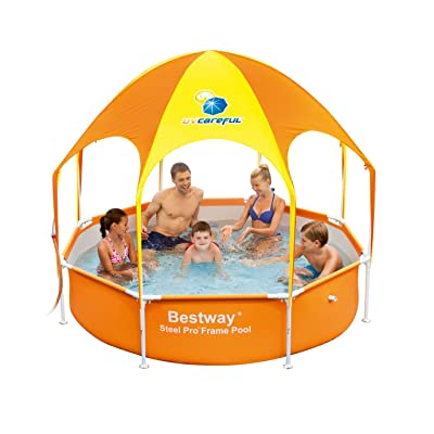 H2OGO! Splash-in-Shade Play Pool Orange: Garden & Outdoor