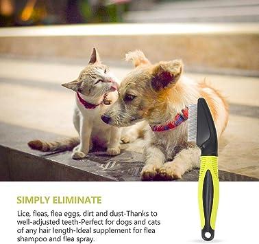 Nobleza - Peine antipulgas para Perros y Gatos, Peine de pulgas para Cuidado de Mascotas Eliminar Las pulgas, piojos y Suciedad de Las Mascotas, Largo 19cm: Amazon.es: Productos para mascotas