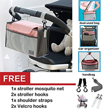 1ae40f620bac Best Universal Baby Jogger Stroller Organizer Bag / Diaper Bag with  Stroller Hooks,Mosquito Net and...