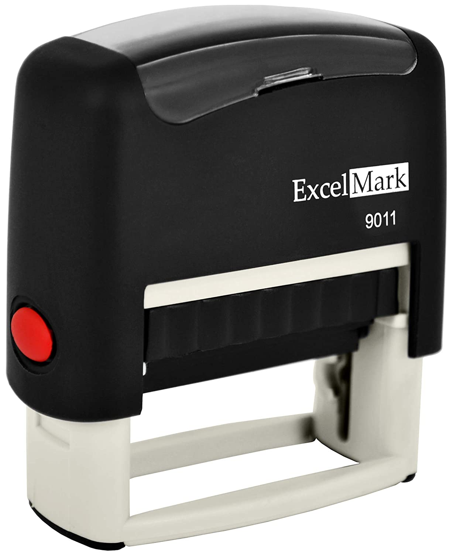 Amazon ExcelMark 3 Line Custom Self Inking Rubber Stamp