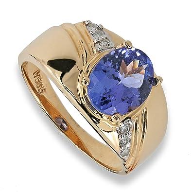 Harry Ivens Ladies Ring Gold Yellow Gold 585 (14 carat) Tanzanite AAA Brilliant mheOqBAEp6
