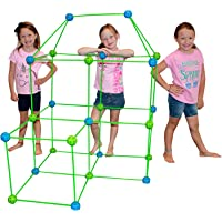 Funphix 77-Pc Fort Building Kit with Glow in The Dark Sticks