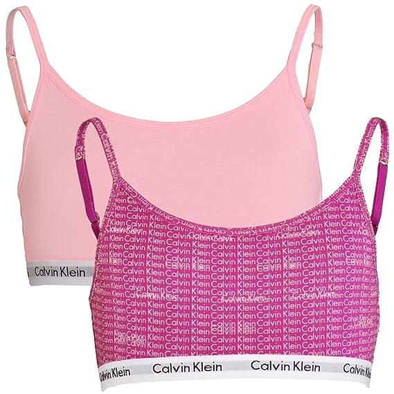 fc81326aa7 Calvin Klein Girls 2 Pack Modern Cotton String Bralette