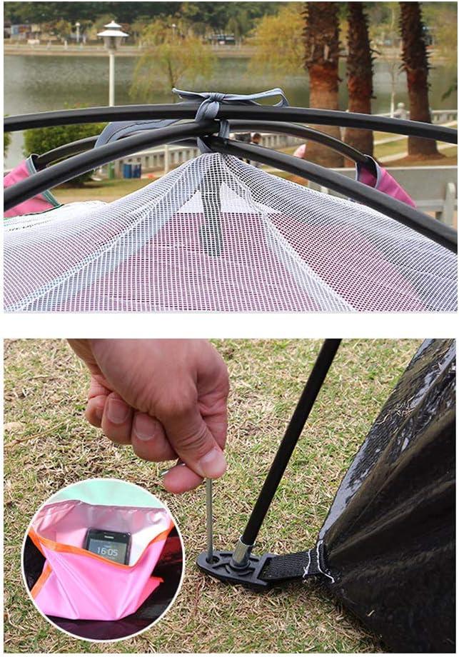 GXCX Outdoor multi-person zeshoekige tent, regendicht en ademend camping tent inclusief accessoires, gebruikt voor strand festival familie camping wandelen tuin vissen picknick B A