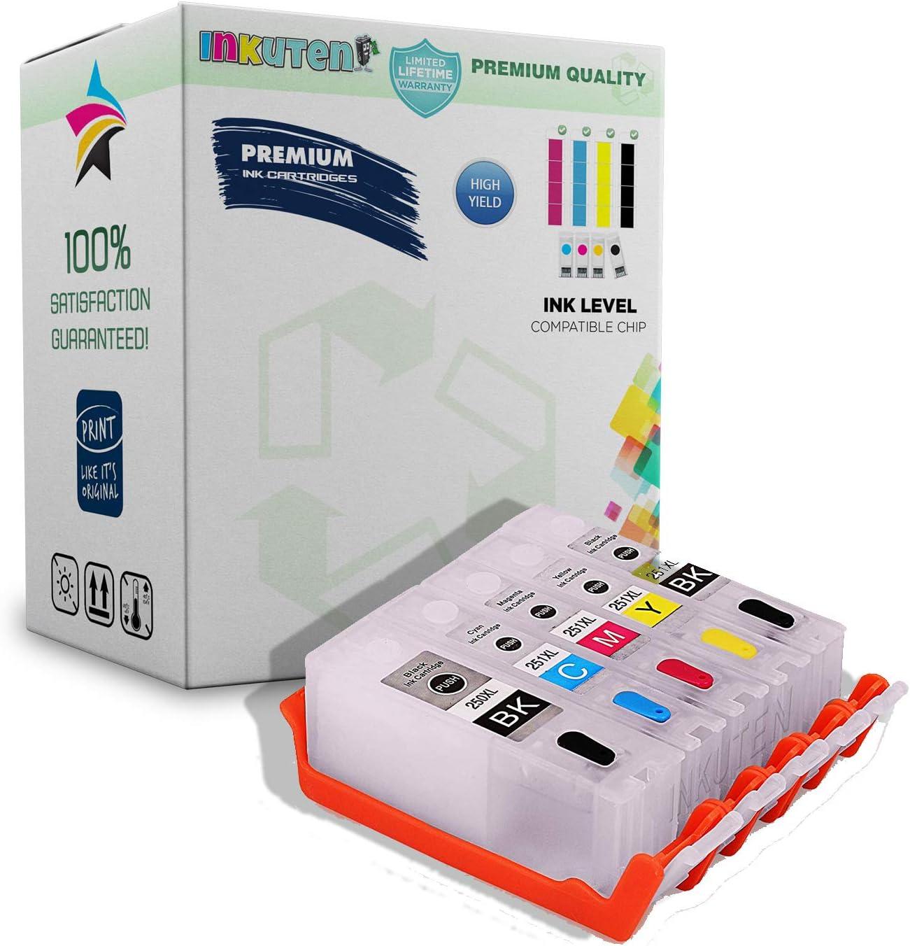 6 empty refillable PGI-250 CLI-251 ink cartridges For canon PIXMA MX722 MX922