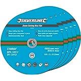 Silverline 380650 Stone Cutting Discs Flat 230 x 3 x 22.2 mm - Pack of 5