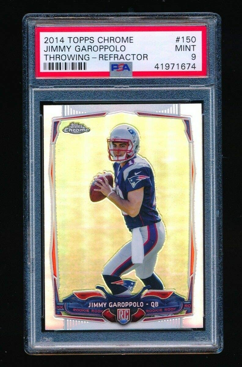 PSA 9 JIMMY GAROPPOLO 2014 TOPPS CHROME REFRACTOR PARALLEL RC ROOKIE CARD 49ERS