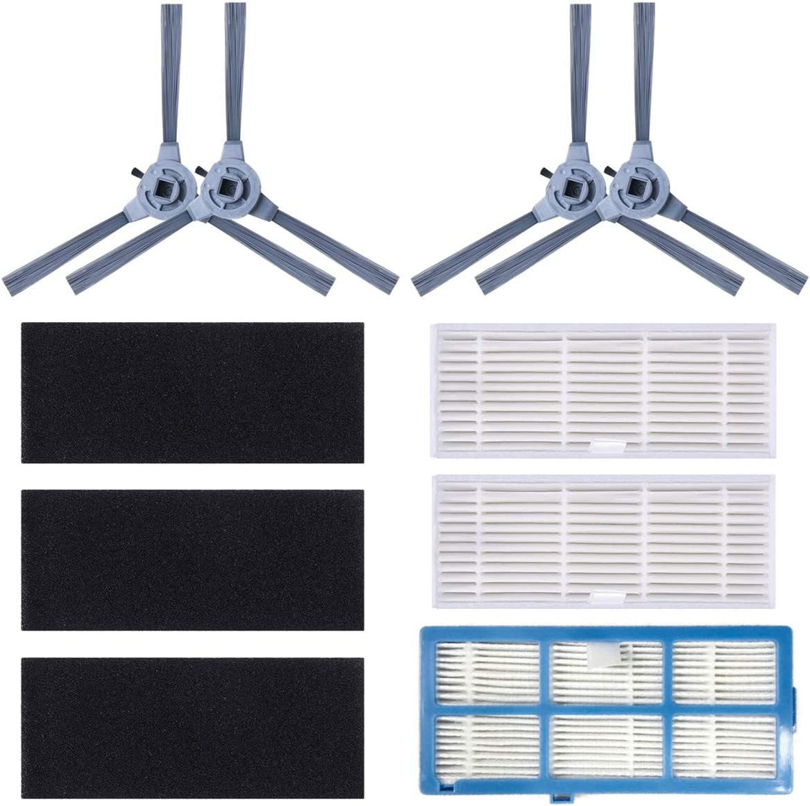 Coredy Replacement Kit (Side Brush, High Efficiency Filter) for R550,R650,R750 (R700) Robot Vacuum Cleaner Accessories