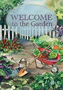 Toland Home Garden Welcome Garden 12.5 x 18 Inch Decorative Spring Summer Vegetable Gardening Garden Flag