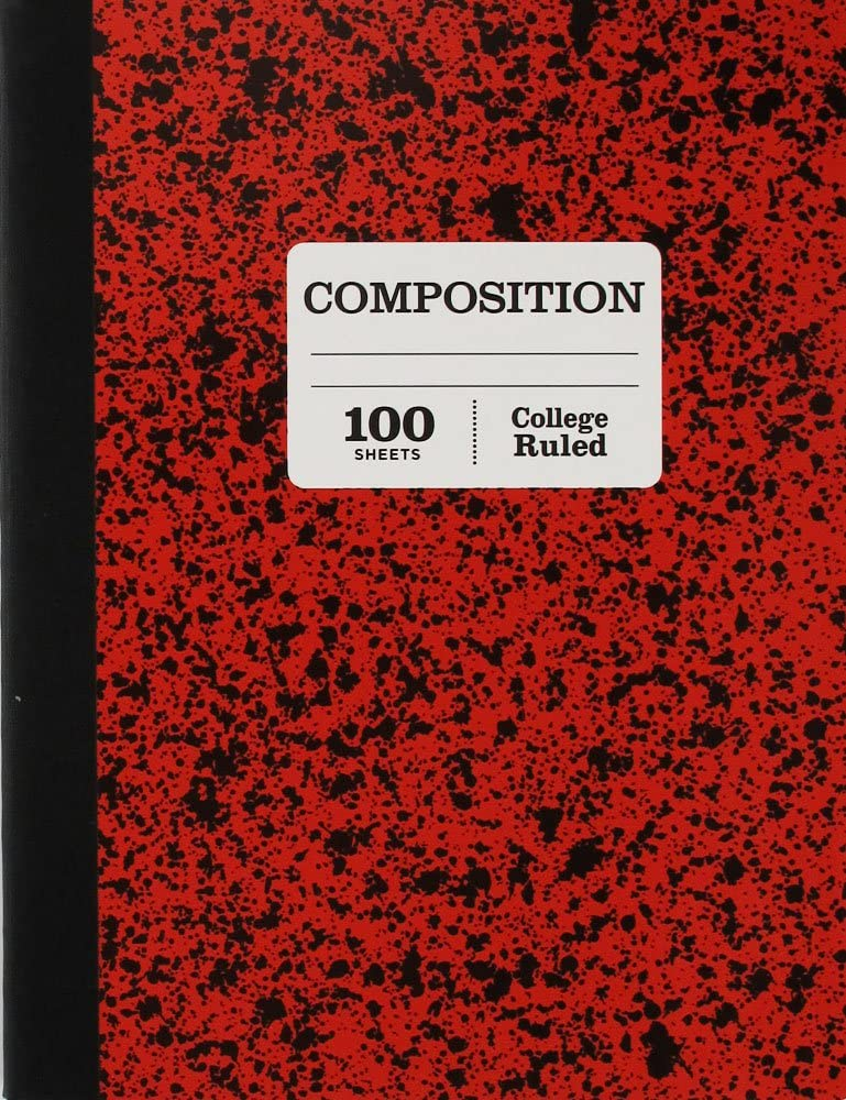 1 Subject College Ruled Marble Composition 100 Page Notebook Variety Pack of 5