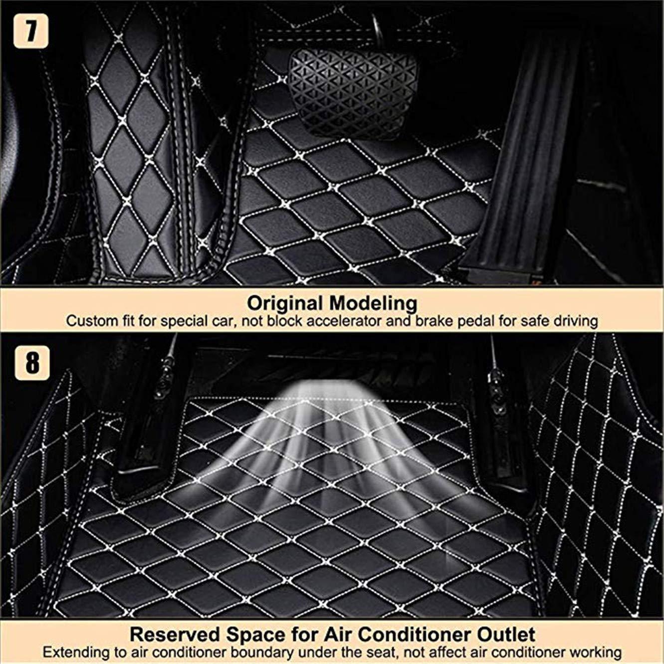 Beige, LS430 Fmingquhap Custom fit XPE Leather 3D Fully Enclosed Waterproof car Carpet Floor Liner Lexus Logo.