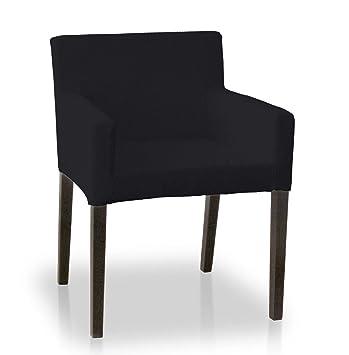 Dekoria Housse De Chaise Ikea Nils Noir Amazon Fr
