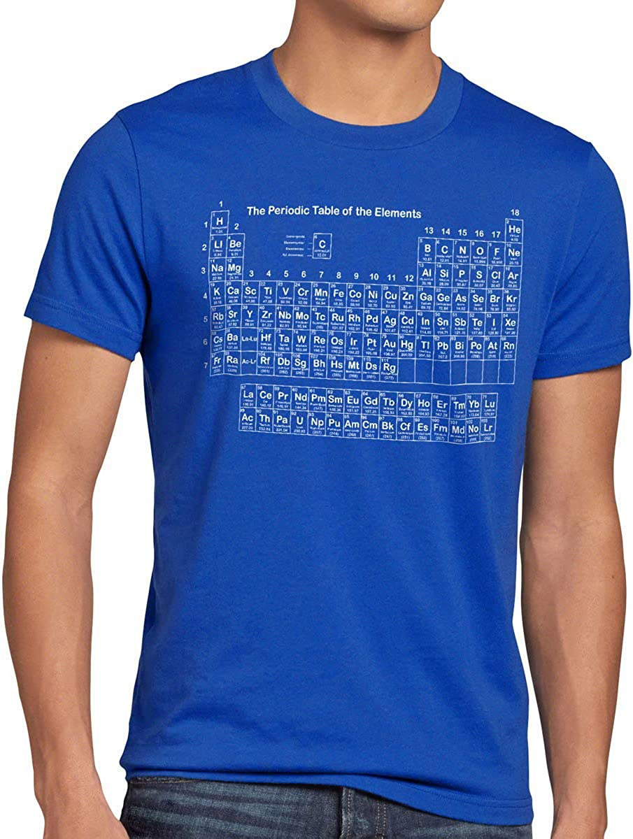 style3 Sheldon Syst/ème P/ériodique T-Shirt Homme The Big Bang Theory