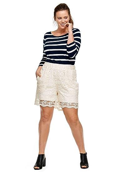 Ellos Womens Plus Size Crochet Lace Shorts At Amazon Womens