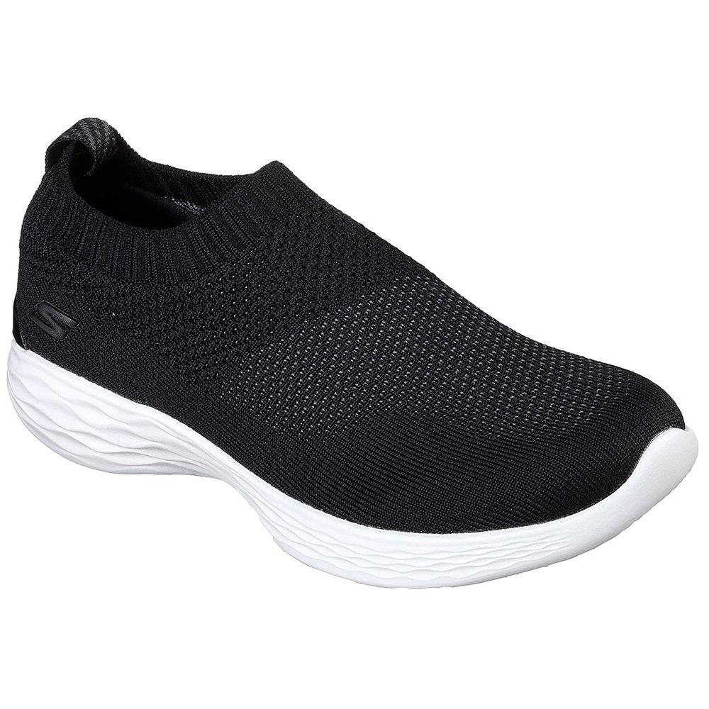Skechers Performance Women's You-14968 Sneaker,Black/White,6.5 M US