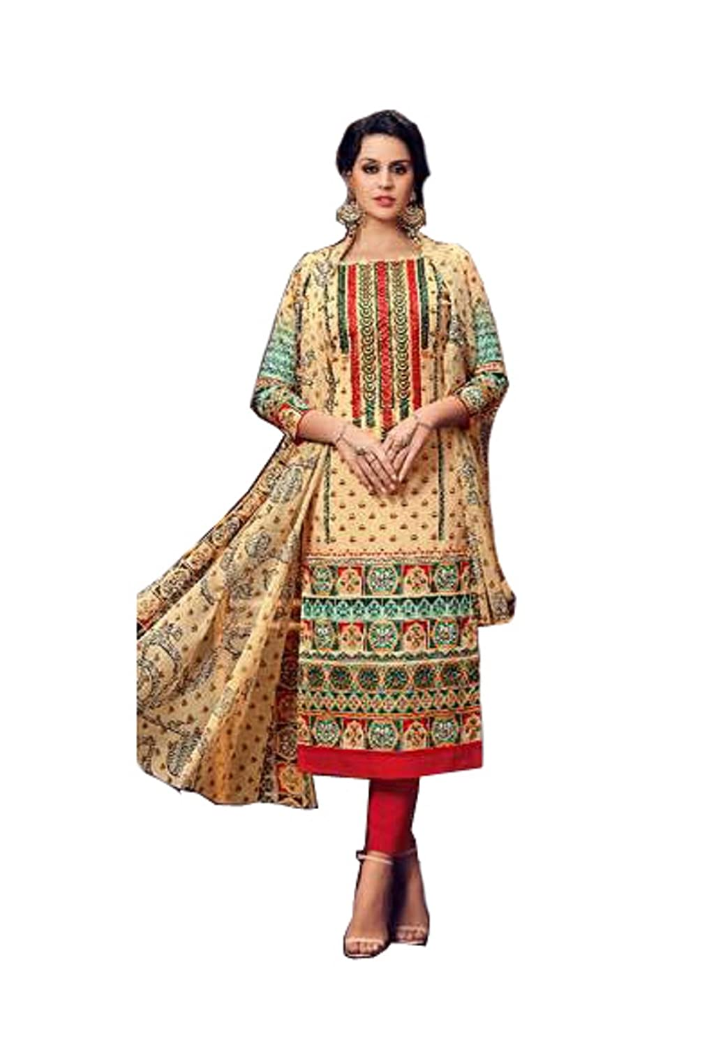 275173fa5a Madeesh Pakistani Suit for Women, un stitched pakistani style dress  material, salwar suits, Cotton, Embroidery, Party Wear: Amazon.in: Clothing  & ...