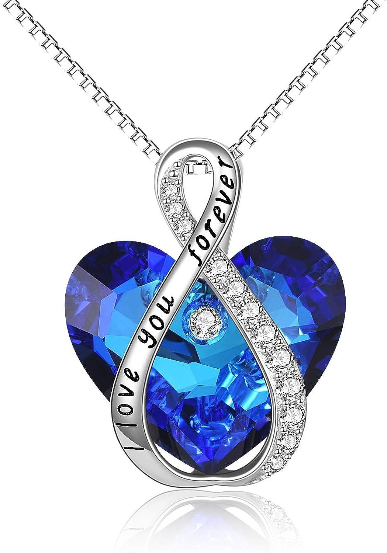 Women/'s Infinity Love Sign Pendant Earrings Set of 925 Sterling Silver #1462