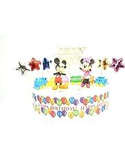 Juego de decoración para tarta de cumpleaños de Mickey y Minnie Mouse