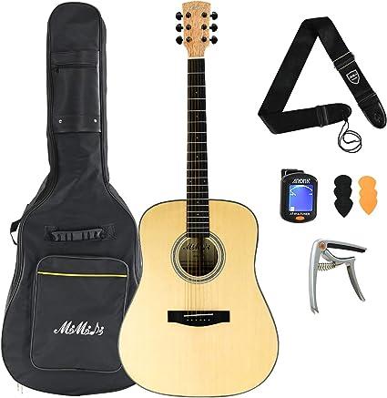 MIMIDI - Kit de guitarra acústica para principiantes con afinador ...