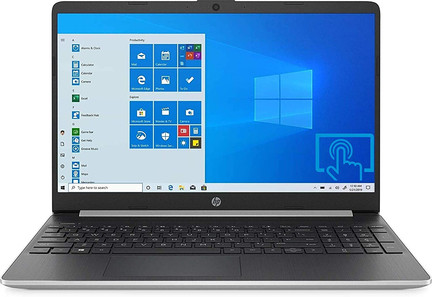 HP 15 Series 15.6-inch HD SVA Touchscreen Laptop, AMD Ryzen 7 3700U (Quad-Core) Up to 4.0GHz, 8GB DDR4, 256GB PCIe NVMe SSD, AMD Radeon RX Vega 10, Webcam, Bluetooth, WiFi, USB 3.1-C, HDMI, Windows 10