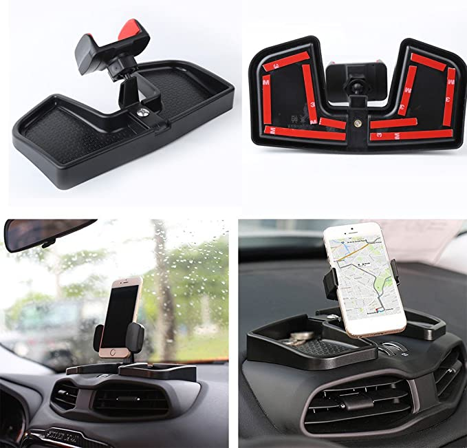Camoo for/Jeep Renegade Phone /& GPS Car Holder 360 Degree Rotation with Organizer Storage Adjustable Auto Mobile Holder Stand Kit Fits/Jeep Renegade 2015-2019