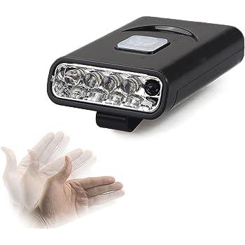 Tagvo 2 Pack Cap Clip Light 5 LEDs Headlamp Adjustable 90