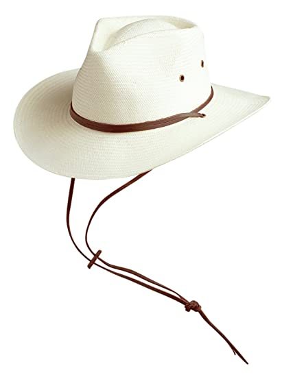 2aff92d3525 Conner Hats Men s Outback Ranger Straw Mens Hat at Amazon Men s Clothing  store  Sun Hats